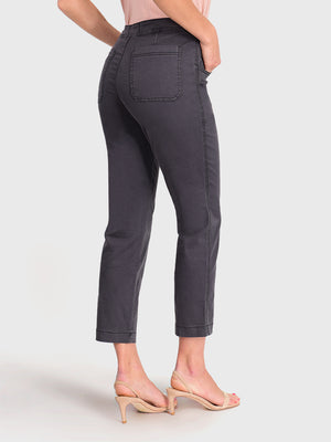 Womens Meteorite Jess Button Front High-Rise Straight Leg Chino 6