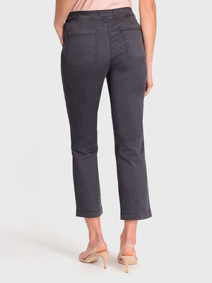 Womens Meteorite Jess Button Front High-Rise Straight Leg Chino 7
