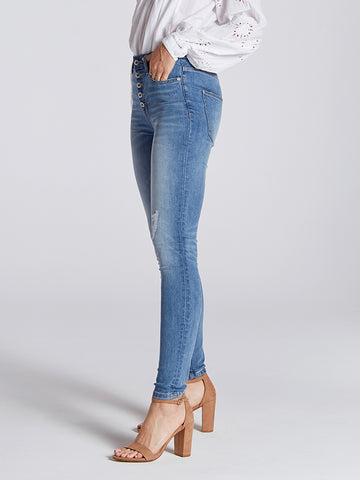 Womens Surrey Sloane High-Rise Skinny w/ Button Fly