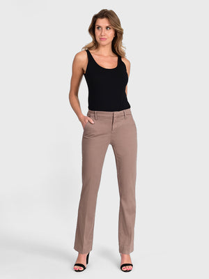 Womens Taupe Grey Jenalyn Bootcut Trouser 2