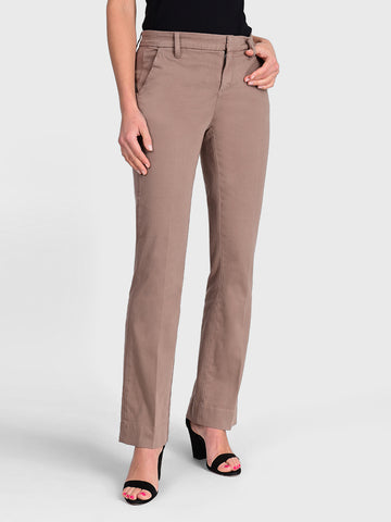 Womens Taupe Grey Jenalyn Bootcut Trouser