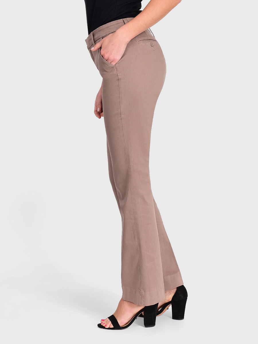 Womens Taupe Grey Jenalyn Bootcut Trouser 4