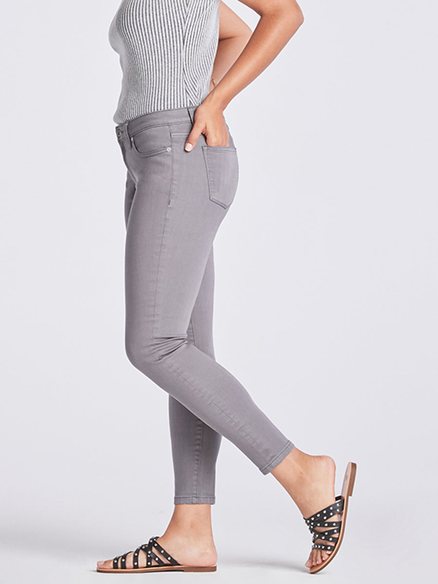 Womens Washed Grey Louise Skinny Ankle 6