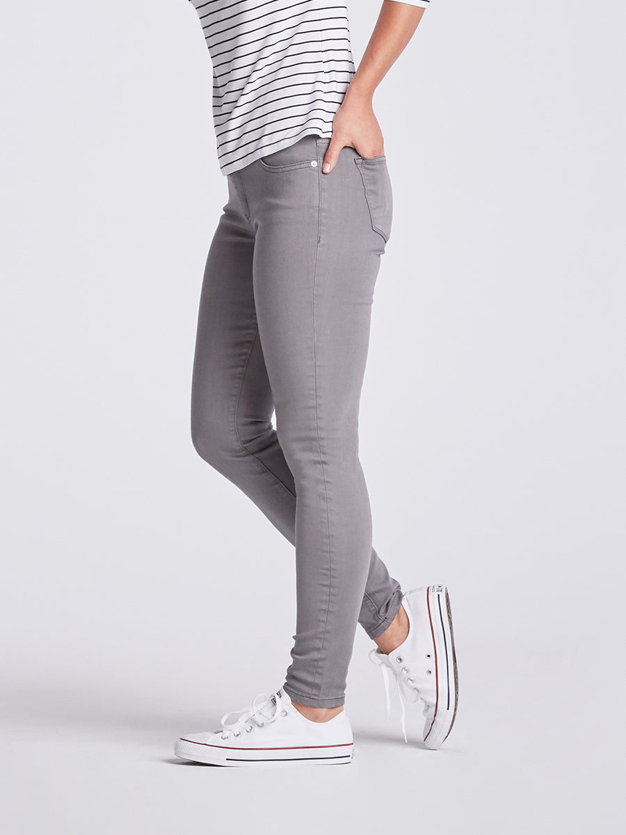 Womens Washed Grey Louise Skinny
