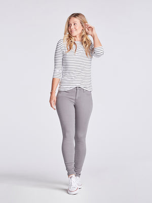 Womens Washed Grey Louise Skinny 2