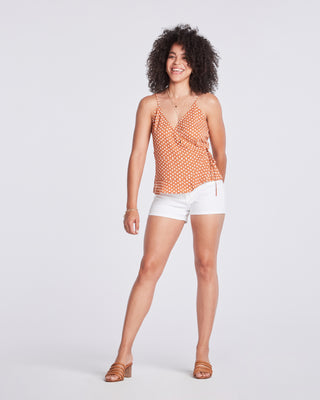 Womens White Tegan Clean Hem Short 2