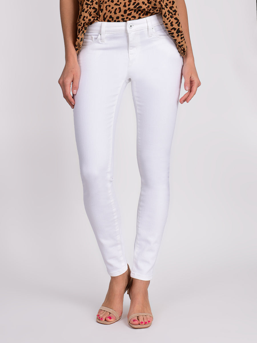 Womens White Louise Skinny