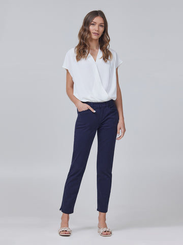 Pert Tapered Trouser w/ Ruffle Pocket