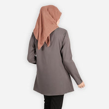 Load image into Gallery viewer, Jafeerah Premium Blouse (dark grey) - HannahSG