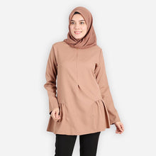 Load image into Gallery viewer, Jafeerah Premium Blouse (khaki) - HannahSG