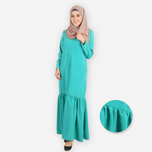 Load image into Gallery viewer, Rumaisa Premium Jubah (mint green)
