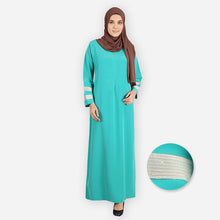 Load image into Gallery viewer, Fizzah Curvy Premium Jubah (mint green) - HannahSG