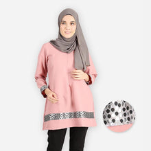 Load image into Gallery viewer, Khabirah Curvy Premium Blouse (pink) - HannahSG