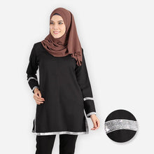 Load image into Gallery viewer, Fazia Premium Blouse (black) - HannahSG
