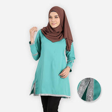 Load image into Gallery viewer, Fazia Premium Blouse (mint green) - HannahSG