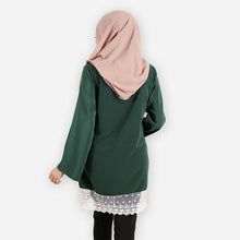 Load image into Gallery viewer, Lateenah Premium Blouse (dark green) - HannahSG