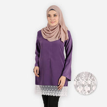 Load image into Gallery viewer, Lateenah Curvy Premium Blouse (dark purple) - HannahSG