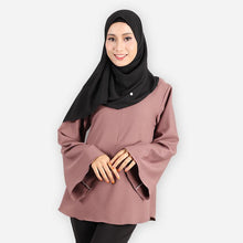 Load image into Gallery viewer, Harika Curvy Premium Blouse (brown) - HannahSG