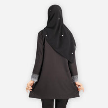Load image into Gallery viewer, Mishaali Curvy Premium Blouse (black) - HannahSG