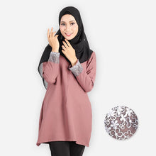 Load image into Gallery viewer, Mishaali Curvy Premium Blouse (brown) - HannahSG