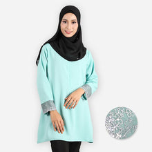 Load image into Gallery viewer, Mishaali Curvy Premium Blouse (mint green) - HannahSG