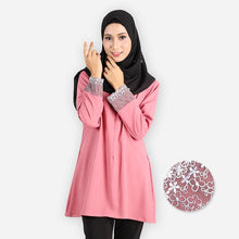 Load image into Gallery viewer, Mishaali Curvy Premium Blouse (rose) - HannahSG