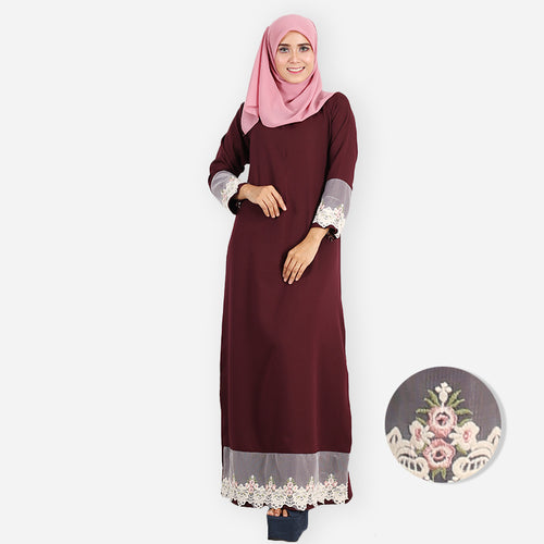 Sufia Premium Jubah (dark brown)
