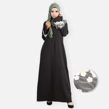Load image into Gallery viewer, Fatin Saloma Curvy Premium Jubah (black) - HannahSG