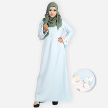 Load image into Gallery viewer, Fatin Saloma Curvy Premium Jubah (light blue) - HannahSG