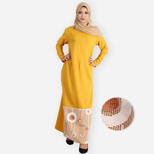 Load image into Gallery viewer, Aqeela Premium Jubah (yellow) - HannahSG