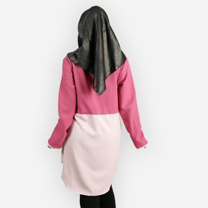 Abella Two Tone Long Blouse (magenta)