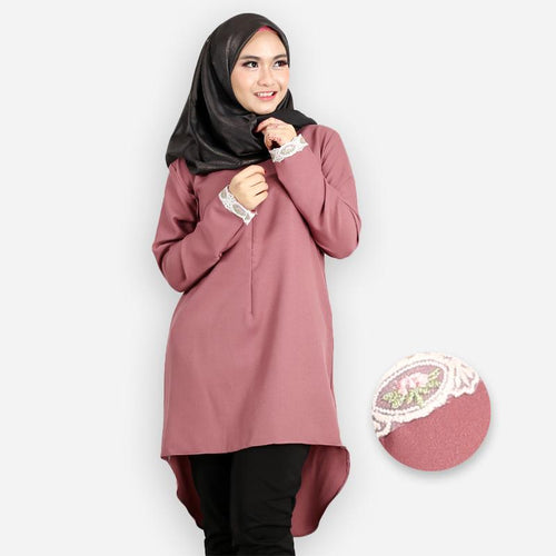 Zanoah Curvy Premium Long Blouse (brown)