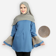 Load image into Gallery viewer, Mahneerah Saloma Blouse (blue)