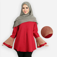 Load image into Gallery viewer, Mahneerah Curvy Saloma Blouse (dark red)