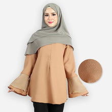 Load image into Gallery viewer, Mahneerah Curvy Saloma Blouse (khaki)