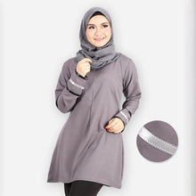 Load image into Gallery viewer, Durriyah Long Blouse (dark grey)