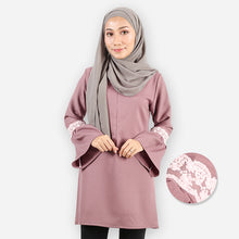 Load image into Gallery viewer, Huda Saloma Long Blouse (brown)