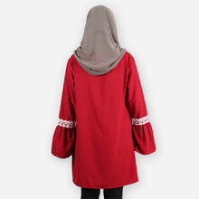 Load image into Gallery viewer, Huda Saloma Long Blouse (dark red)