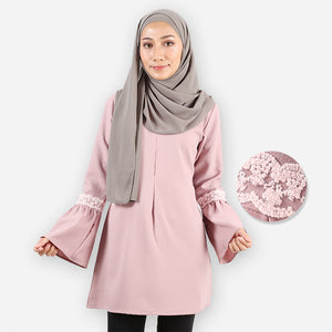Huda Curvy Saloma Long Blouse (purple)