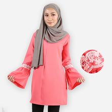 Load image into Gallery viewer, Huda Curvy Saloma Long Blouse (rose)