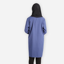 Load image into Gallery viewer, Sharifah Curvy Premium Blouse (dark blue)