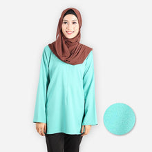 Load image into Gallery viewer, Hameeda Curvy Premium Blouse (mint green) - HannahSG