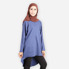 Load image into Gallery viewer, Melinna Premium Blouse (dark blue) - HannahSG