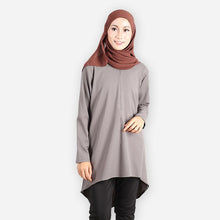 Load image into Gallery viewer, Melinna Premium Blouse (dark grey) - HannahSG