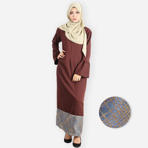 Adeela Premium Jubah (dark brown)