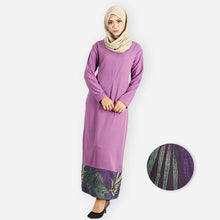 Load image into Gallery viewer, Dina Curvy Premium Jubah (dark purple)