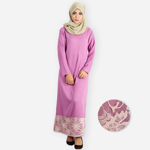 Layla Premium Jubah (dark purple)