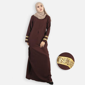 Furayah Curvy Jubah (dark brown)