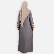 Load image into Gallery viewer, Furayah Curvy Jubah (dark grey)