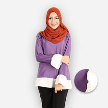 Load image into Gallery viewer, Liya Curvy Basic Blouse (dark purple) - HannahSG